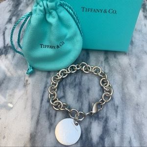 Tiffany & Co. round tag charm bracelet